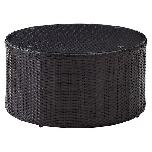 Catalina Wicker Round Coffee Table - Crosley - image 1 of 3