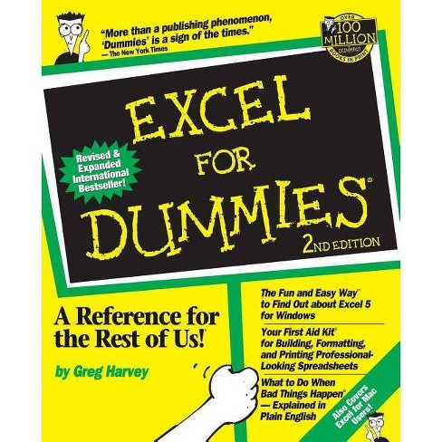 Excel for Dummies - (For Dummies) 2 Edition by  Greg Harvey (Paperback) - image 1 of 1