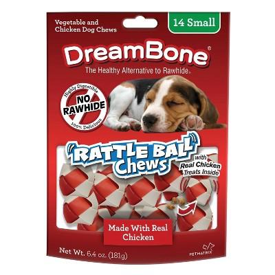 DreamBone Rattleballs Dry Dog Treats - 14ct