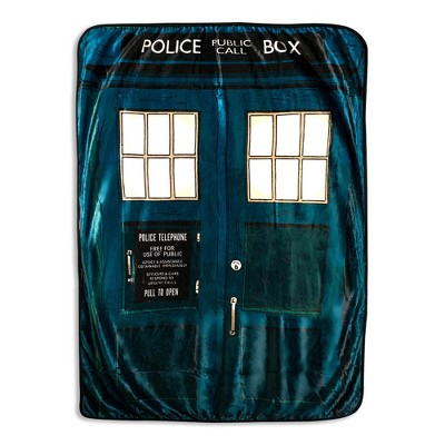 Surreal Entertainment Doctor Who TARDIS Fleece Throw Blanket   45 x 60 Inches