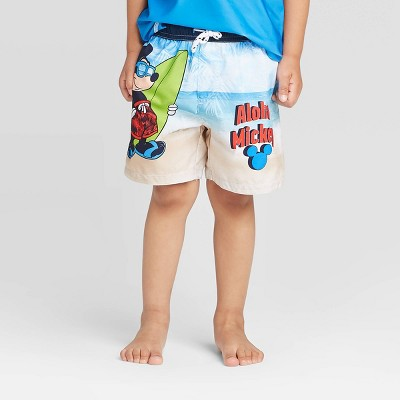 Toddler Boys' Mickey Mouse Swim Trunks - Blue