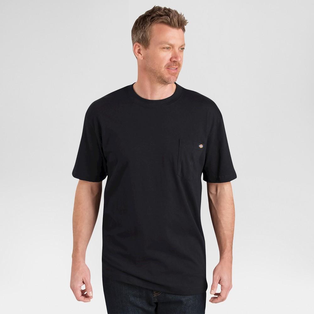 Dickies Men's Big & Tall 2 Pack Cotton Short Sleeve Pocket T-Shirt- Black 4XL