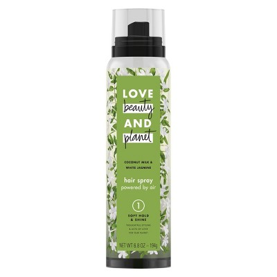 Hair Spray: Love Beauty & Planet Soft Hold & Shine Hair Spray