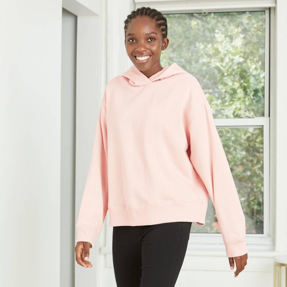 Women 39 S Hooded All Day Fleece Sweatshirt A New Day 8482 Pink Xxl