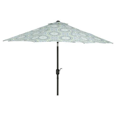 7 5 Outdoor Indoor Delancey Patio Market Umbrella Blue Pillow