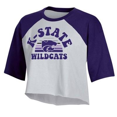 NCAA Kansas State Wildcats Women's Short Sleeve Cropped T-Shirt