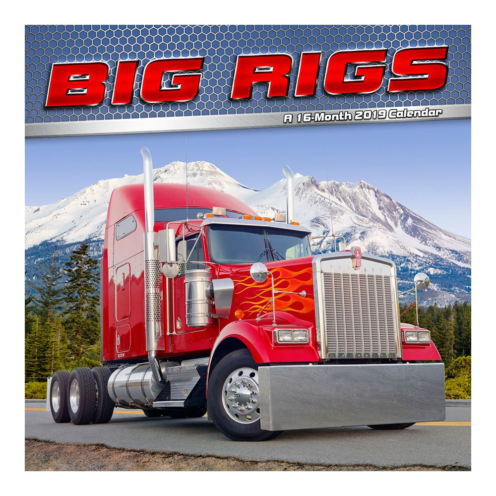 2019 Wall Calendar Big Rigs - Trends International, Multi-Colored
