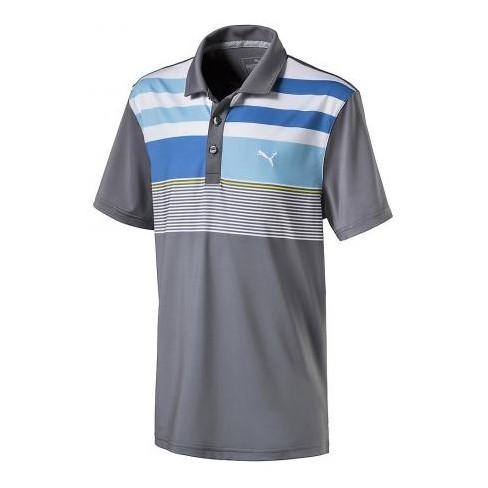 fd969e1e2751 Boys  Puma Juniors Road Map Asym Golf Polo Quiet Shade X-Large   Target