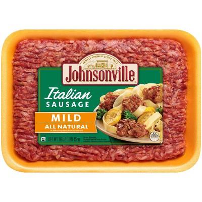 Johnsonville Mild Italian Ground Sausage - 16oz