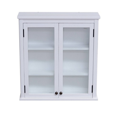 """29""""x27"""" Dorset Wall Mounted Bath Storage Cabinet White - Alaterre Furniture - image 1 of 4"""