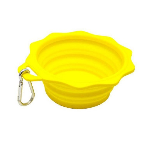 Sun Shaped Silicone Collapsible Dog & Cat Bowl - L - 4cups - Sun Squad™ - image 1 of 1