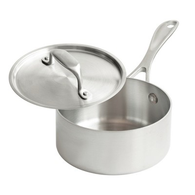American Kitchen Cookware Premium Stainless Steel Covered 1 Quart Saucepan