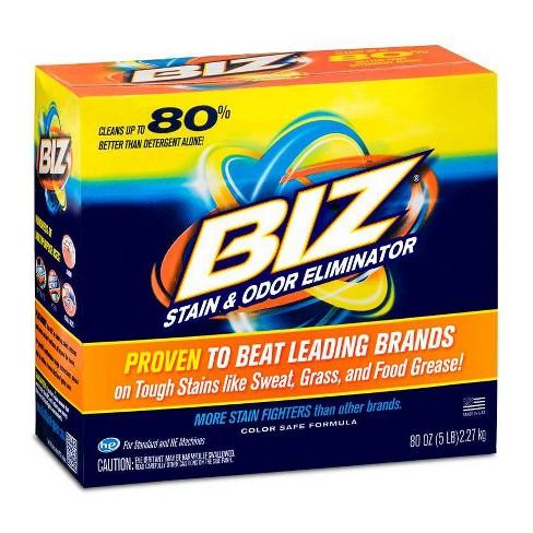 Biz Stain Odor Eliminator Detergent, Original Scent - 80oz - image 1 of 4