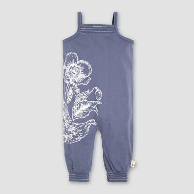 Burt's Bees Baby® Girls' Organic Cotton Smocked Romper - Blue 3-6M