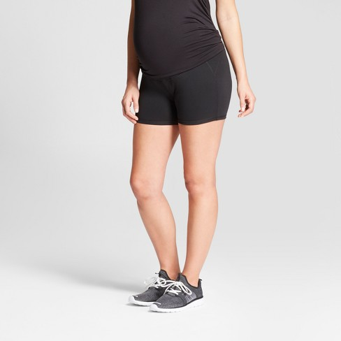 Maternity Over the Belly Shorts - C9 Champion® Black - image 1 of 5