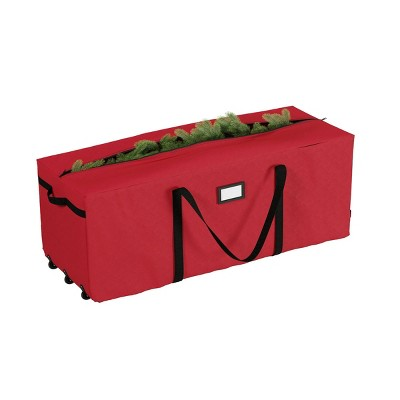 12' Premium Red Rolling Christmas Tree Storage Duffel Bag - Elf Stor