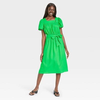 Women's Puff Short Sleeve Dress - Who What Wear™