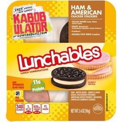 Oscar Mayer Lunchables Ham + American Cracker Stackers - 3.4oz