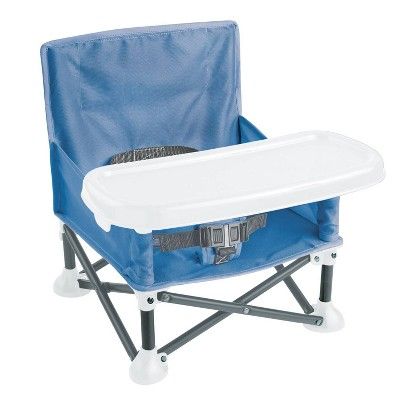 Summer Infant Pop N Sit Booster - Dusty Blue