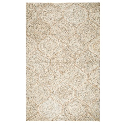 Light Toast Trellis Tufted Accent Rug 3'X5' - Rizzy Home