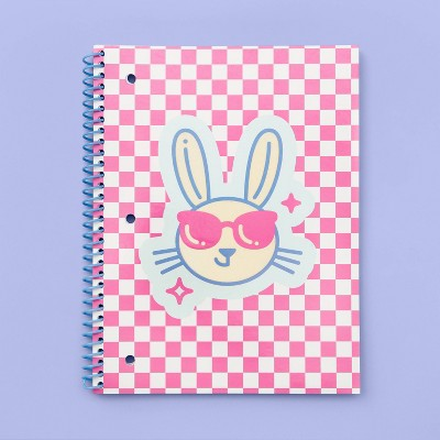 More Than Magic™ Spiral 1-Subject Girl Talk Notebook - Bunny Flocking