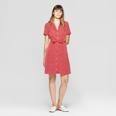 020d69eefd09c1 Women's Polka Dot Dress – A New Day™ + Vital Voices – Red XXL – Deal ...