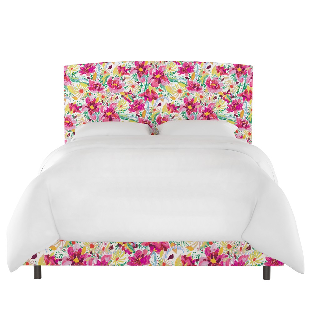 Upholstered Bed Queen Bright Floral Blush - Opalhouse