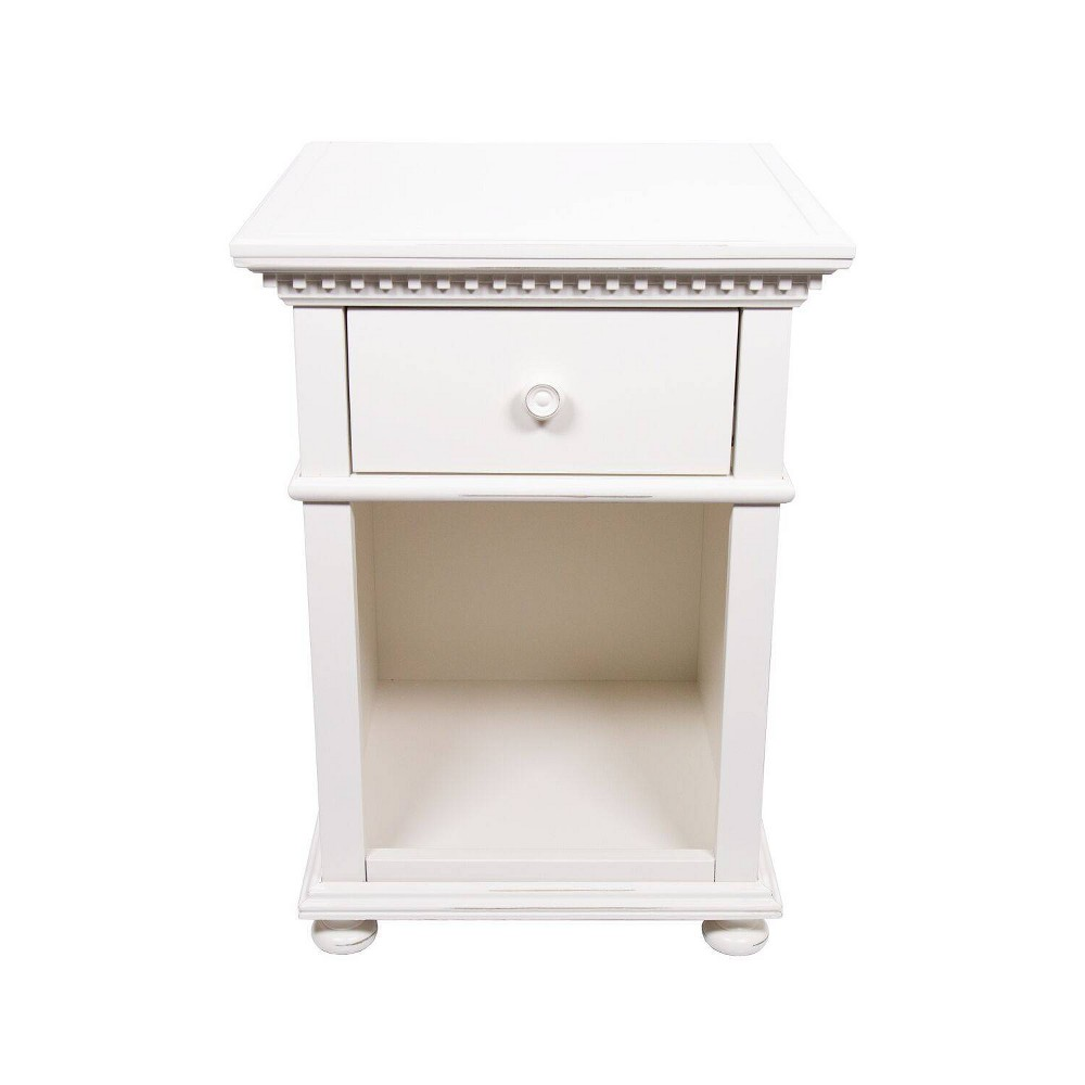 One Drawer Nightstand French White - Homepop was $259.99 now $194.99 (25.0% off)