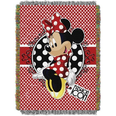 Minnie Mouse Bowtique Forever Tapestry Throw