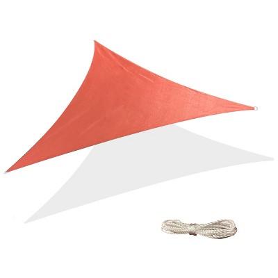 10' x 10' Triangle Sun Shade Sail - Terracotta Red - Backyard Expressions
