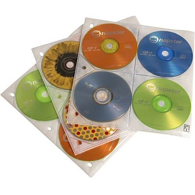 Case Logic 200 Capacity CD Album Refill Pages - Slide Insert - Plastic - Clear