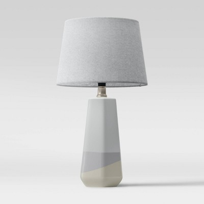 Dipped Ceramic Lamp Blue with Linen Shade - Threshold™