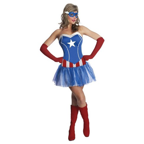 Adult Marvel Avengers Captain America Halloween Costume XS - image 1 of 1