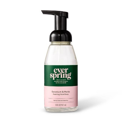 Geranium & Herbs Foaming Hand Soap - 10 fl oz - Everspring™