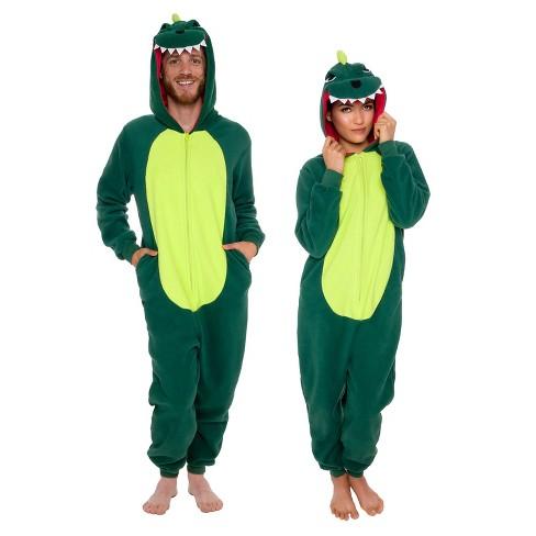Funziez! Dinosaur Slim Fit Adult Unisex Novelty Union Suit - image 1 of 4