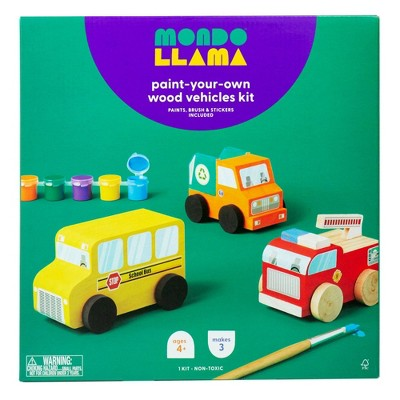 Paint-Your-Own Wooden Vehicles - Mondo Llama™