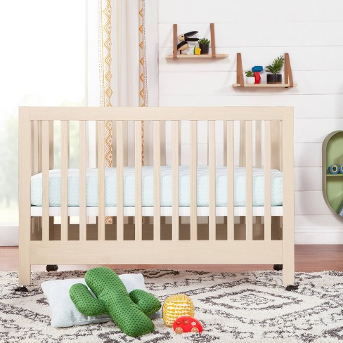 Babyletto Maki Full Size Folding Crib With Toddler Bed Conversion Kit Washed Natural Target