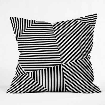 """16""""x16"""" Three Of The Possessed Dazzle New York Throw Pillow Black/White - Deny Designs"""