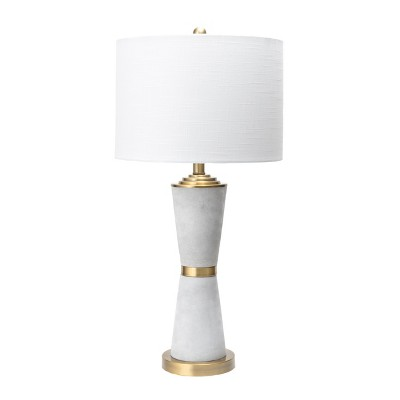 """nuLOOM Pacific 29"""" Cement Table Lamp Lighting - Gray 28.5"""" H x 14"""" W x 14"""" D"""