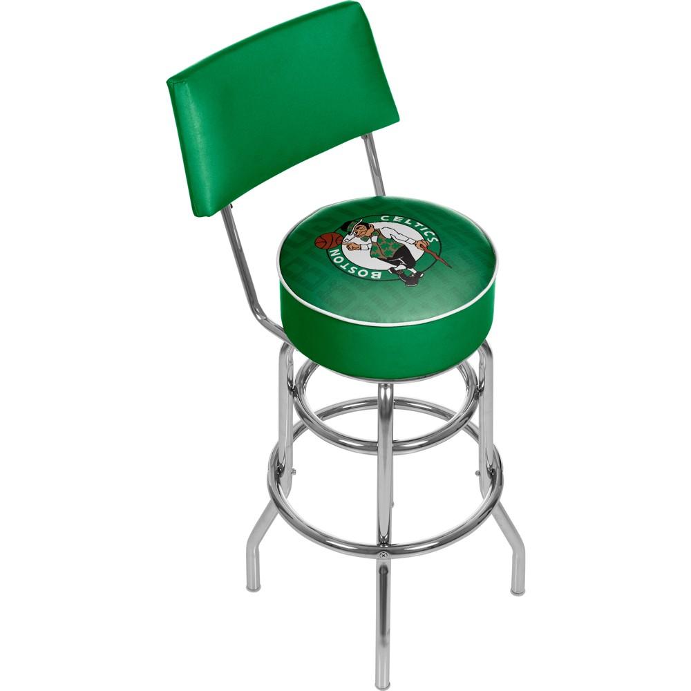 NBA Boston Celtics City Swivel Bar Stool with Back