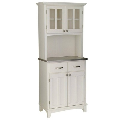 Stainless Top and Hutch Sideboard Buffet Servers- Home Styles