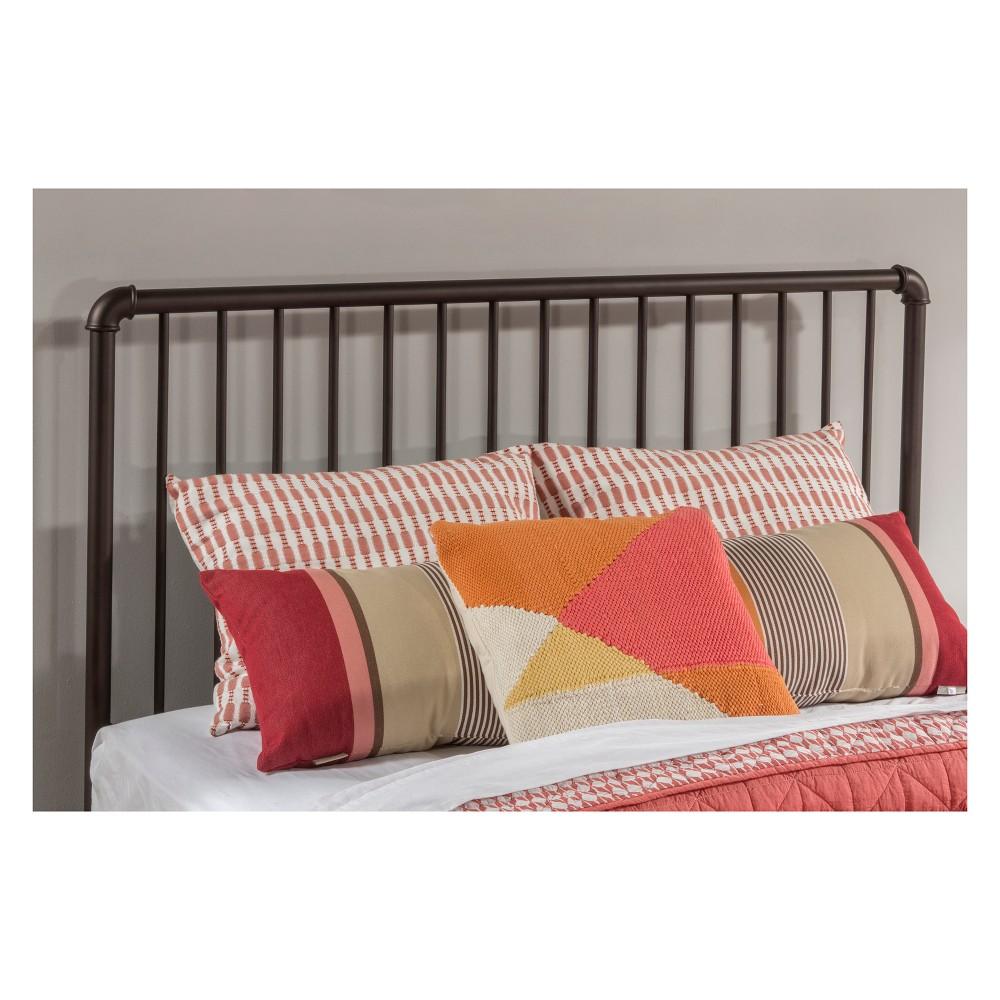 Full Brandi Metal Headboard Bed Frame Included Bronze - Hillsdale Furniture, Orange