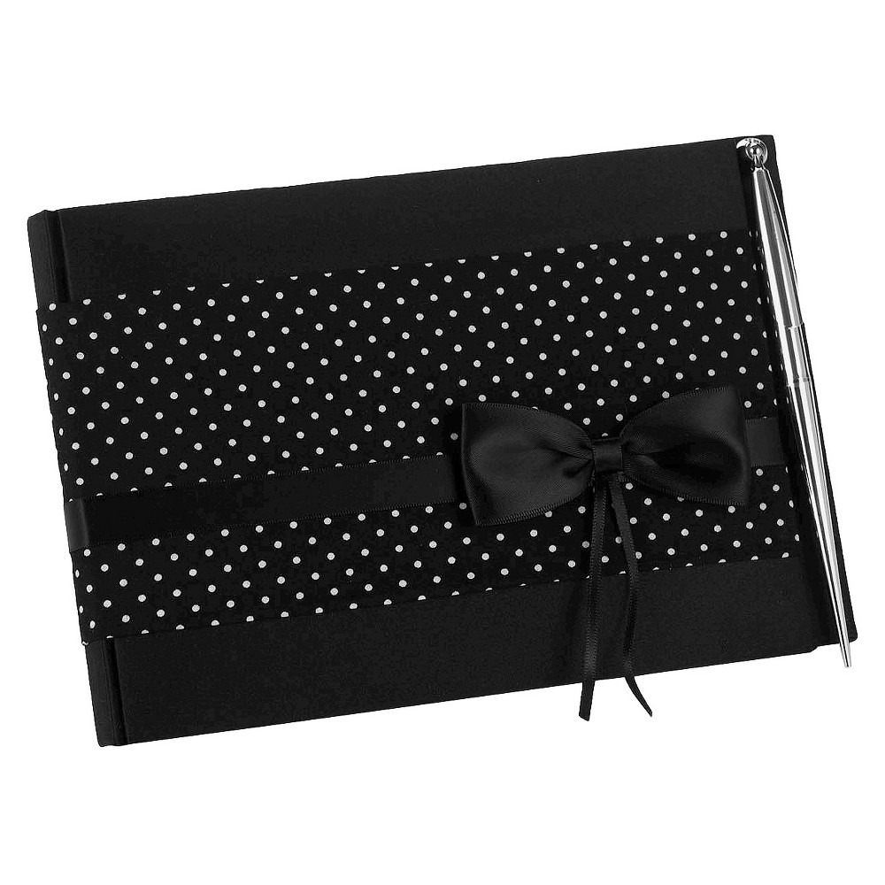 Image of Polka Dot Wedding Collection Guest Book with Pen