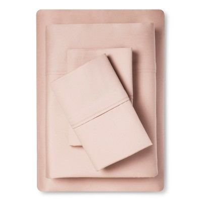 Queen Tencel Cotton Sheet Set Heirloom Pink - Fieldcrest®