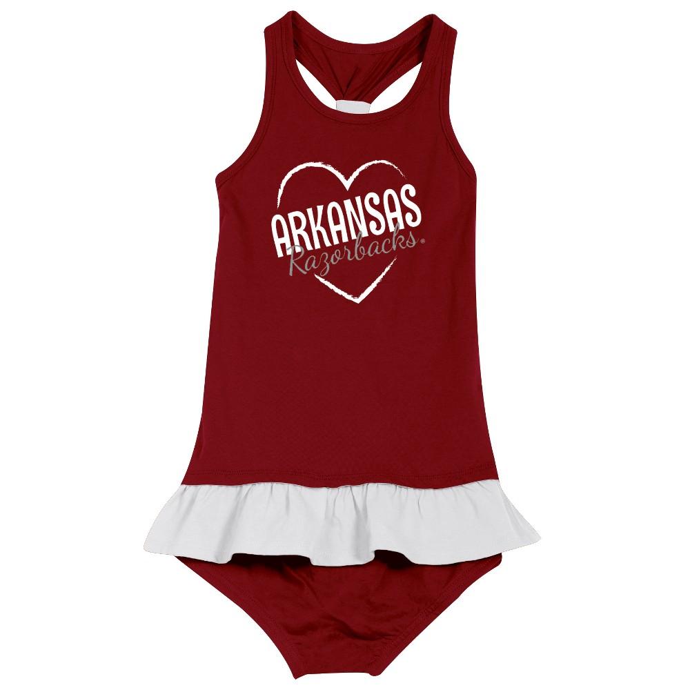 Arkansas Razorbacks After Her Heart Toddler Dress 4T, Toddler Girl's, Multicolored