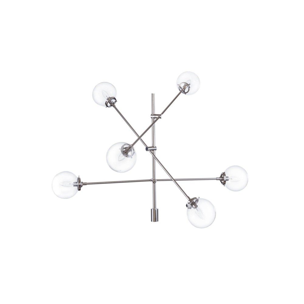 Cyrus Chandelier Silver (Lamp Only)