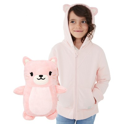 Cubcoats Toddler Kali the Kitty 2-in-1 Stuffed Animal & Hooded Zip Up Sweatshirt