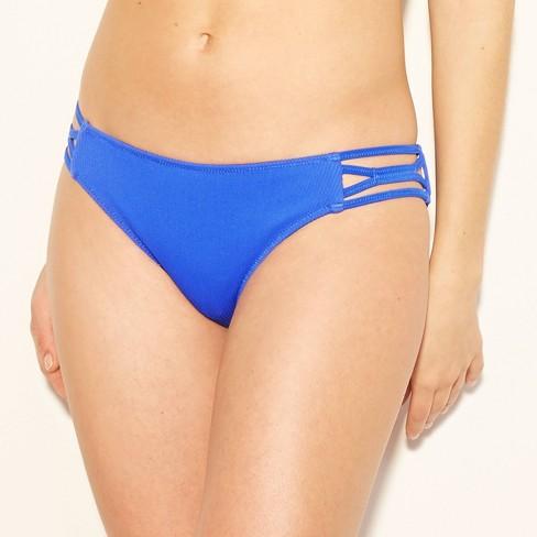 3819e940ed8 Women's Sun Coast Cheeky Ribbed Strappy Bikini Bottom - Shade & Shore™  Cobalt Blue : Target