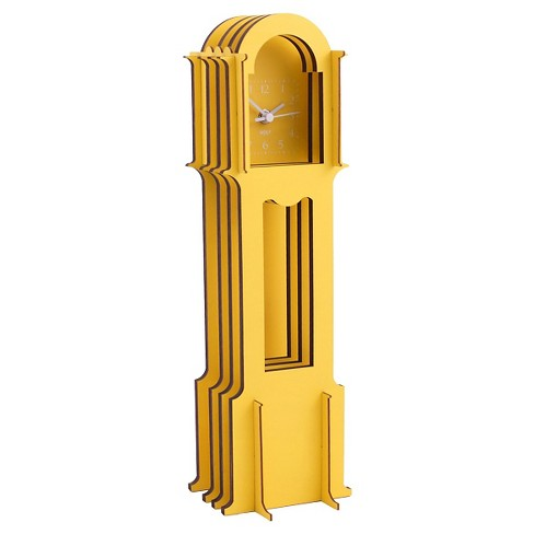 Jigsaw Mini Grandfather Clock Yellow - WOLF® - image 1 of 1