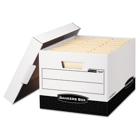 Bankers Box R-KIVE Max Storage Box Legal/Letter Locking Lid White/Black 12/Carton 00724 - image 1 of 1